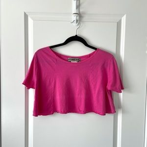 NEW GROCERIES / PINK CROPPED TSHIRT